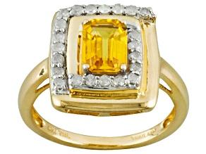 Yellow Sapphire 10k Yellow Gold Ring 1.13ctw