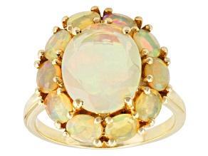Ethiopian Opal 10k Yellow Gold Ring 2.50ctw