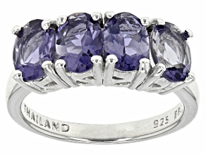 Purple Iolite Sterling Silver Ring 2.04ctw