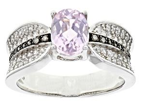Pink Kunzite Sterling Silver Ring 188ctw