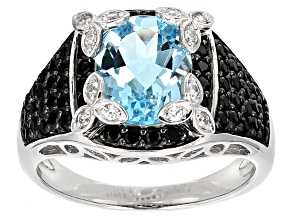 Blue Topaz Sterling Silver Ring 4.00ctw
