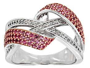 Pink Spinel Sterling Silver Ring 1.09ctw
