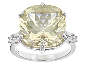 Yellow Labradorite Sterling Silver Ring 9.02ctw