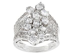 White Zircon Sterling Silver Ring 2.56ctw