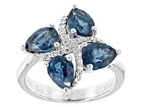 Blue Chromium Kyanite Sterling Silver Ring 2.73ctw