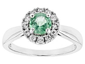 Green Kyanite Sterling Silver Ring .72ctw