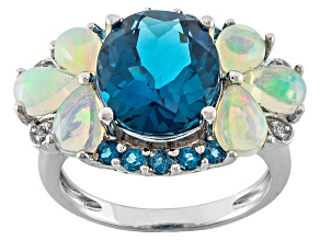 London Blue Topaz Sterling Silver Ring 8.53ctw