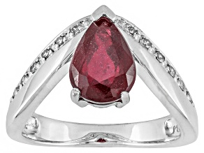 Mahaleo Ruby Sterling Silver Ring 2.34ctw