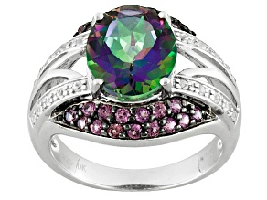 Green Mystic Topaz® Sterling Silver Ring 4.14ctw