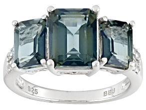 Emerald Envy™ Topaz Sterling Silver Ring 4.57ctw