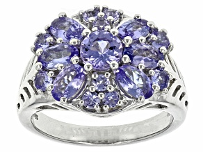 Blue Tanzanite Sterling Silver Ring 2.42ctw