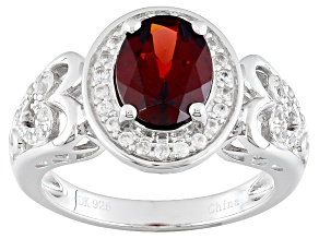 Red Garnet Sterling Silver Ring 1.95ctw