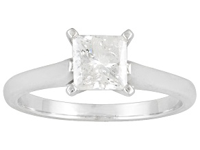 PRE-OWNED  DIAMOND 1.00CT PRINCESS CUT 14K WHITE GOLD SOLITAIRE RING