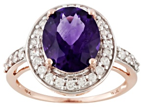 PRE-OWNED 10KT RG  3CT OV MOROCCAN AMETHYST  RING