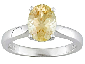 Pre-Owned S/S 2.25ct 9x7mm Ov Yellow Zirc Solitaire Ring
