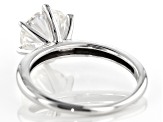 Pre-Owned Moissanite Fire® 1.90ctw Diamond Equivalent Weight 14k White Gold Solitaire Ring