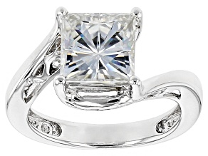 Pre-Owned Moissanite Fire® 2.78ct Diamond Equivalent Weight Square Brilliant Platineve™ Ring