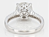 Pre-Owned  Moissanite Fire® 3.30ctw Diamond Equivalent Weight  Round Platineve™ Ring