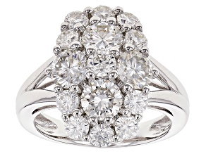 Pre-Owned Moissanite Fire® 2.65ctw Diamond Equivalent Weight Round Platineve™ Ring