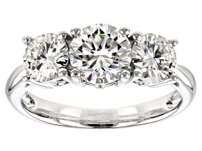 Pre-Owned Moissanite Fire® 2.71ctw Diamond Equivalent Weight Round Brilliant Platineve™ Ring