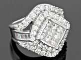 Pre-Owned Cubic Zirconia Silver Ring 4.78ctw (2.73ctw DEW)