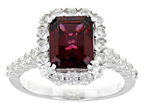 Purple Rhodolite Sterling Silver Ring 4.77ctw