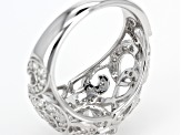Pre-Owned Moissanite Platineve Ring 2.42ctw D.E.W
