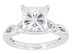 Pre-Owned Moissanite Ring Platineve™ 3.20ctw DEW