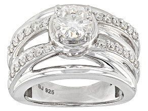Moissanite Platineve Ring 1.28ctw DEW