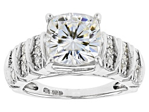 Moissanite Platineve Ring 3.66ctw DEW