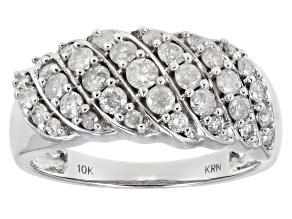 Pre-Owned Diamond 10k White Gold Ring 1.00ctw