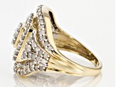 White Diamond 10k Yellow Gold Ring 2.05ctw