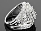 Pre-Owned Cubic Zirconia Silver Ring 4.05ctw (2.26ctw DEW)