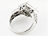 Pre-Owned Cubic Zirconia Silver Ring 4.20ctw (2.51ctw DEW)