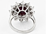 Red Ruby Sterling Silver Ring 5.05ctw