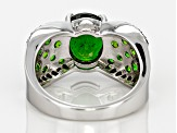 Pre-Owned Green Chrome Diopside Sterling Silver Ring 3.50ctw