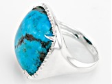Pre-Owned Blue Kingman Turquoise Sterling Silver Ring .16ctw