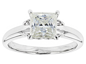 Pre-Owned Moissanite Platineve Ring 2.30ct DEW