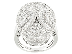 Pre-Owned Diamond Silver Ring 2.00ctw