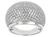 Pre-Owned Cubic Zirconia Silver Ring 4.11ctw