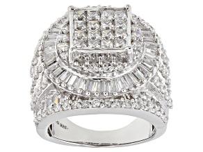 Cubic Zirconia Silver Ring 8.30ctw (5.57ctw DEW)