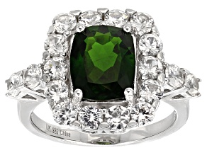 Pre-Owned Green Chrome Diopside Sterling Silver Ring 4.97ctw