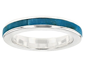 Turquoise Sterling Silver Over Brass Ring