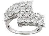 Pre-Owned Cubic Zirconia Silver Ring 4.36ctw (2.44ctw DEW)