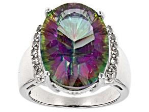 Multi Color Mystic Quartz® Sterling Silver Ring 10.43ctw