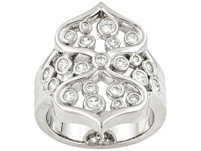 Pre-Owned White Cubic Zirconia  Sterling Silver Ring .89ctw