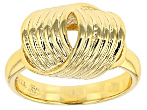 Pre-Owned 18k Yellow Gold Over Bronze Ring