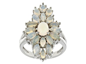 Pre-Owned Ethiopian Opal Sterling Silver Ring 2.04ctw