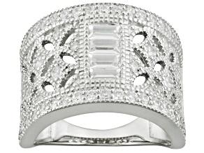 Cubic Zirconia Silver Ring 1.88ctw