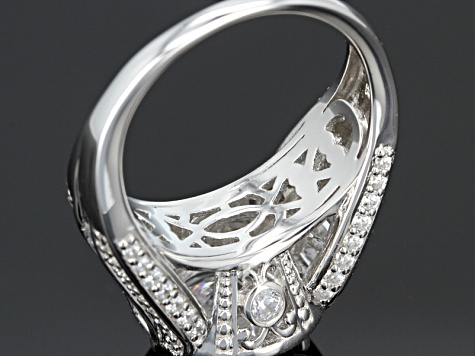 Cubic Zirconia Silver Ring 9.93ctw
